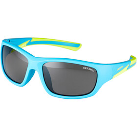 Alpina Flexxy Youth Lunettes Enfant, blue matt-lime
